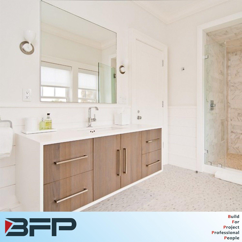 White Countertop with Woodgrain Door Kitchen Bathroom Set for Customized