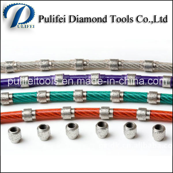 Diamond Hand Wire Saw for Stone Quarrying Granite Block Cutting