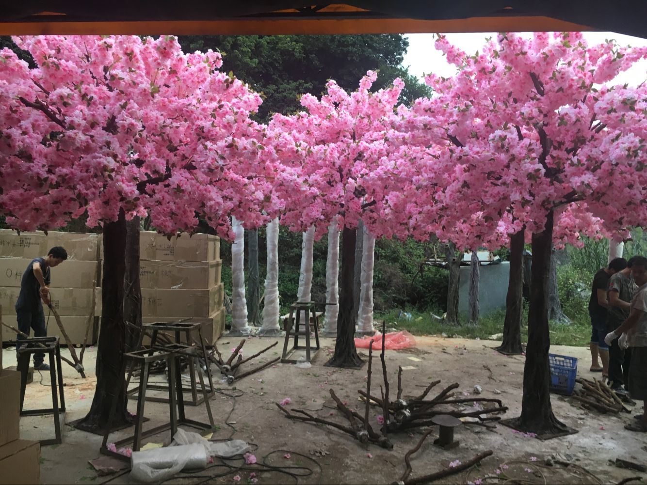 Hot Selling Pink Wedding Decorative Artificial Cherry Blossom/Sakuratree
