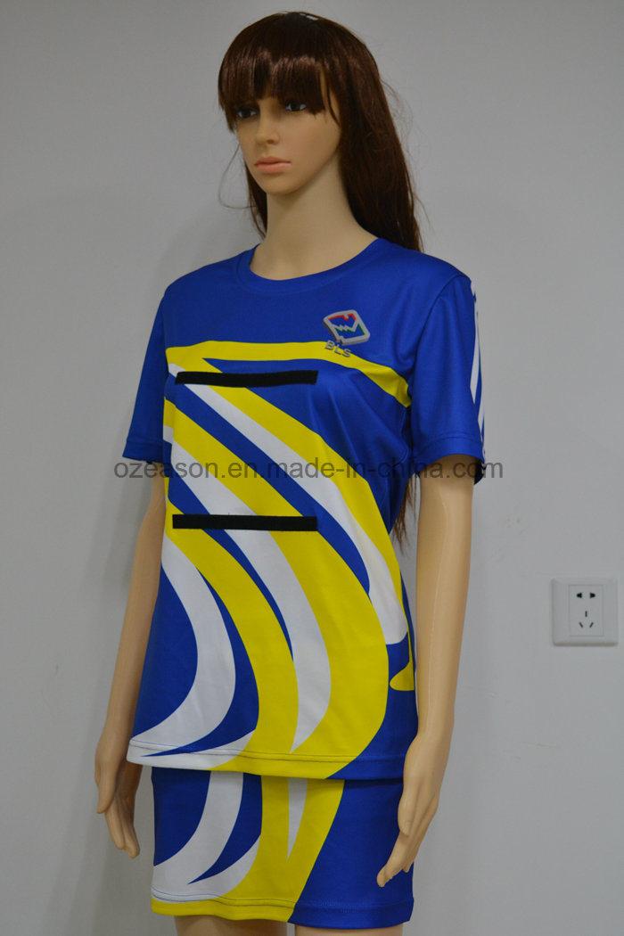 Custom Sublimation Sexy Women Team Netball Dresses Uniforms Skirts (N009)