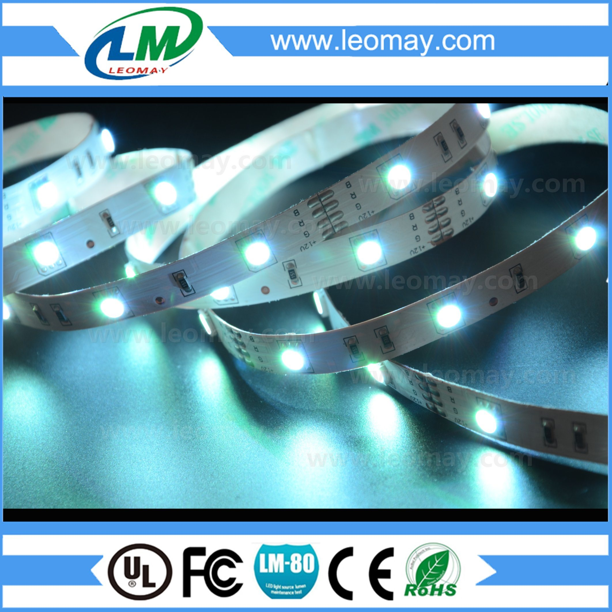 CE Certificated SMD 5050 RGB LED Ribbon with Pure Color