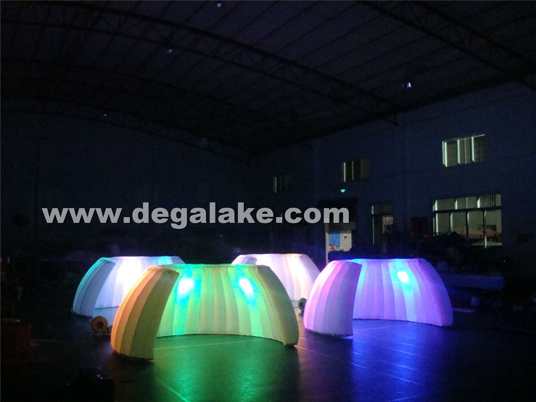 LED Lighting Inflatable Dome Tent/Inflatable Wall for Trade Show