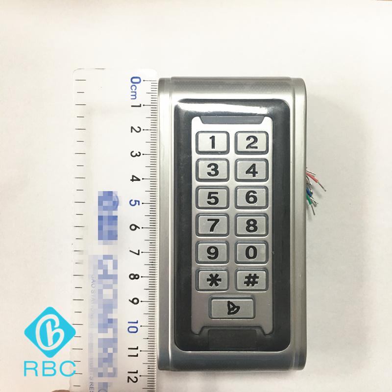 Wiegand Output Keypad Card Reader waterproof Metal Access Controller