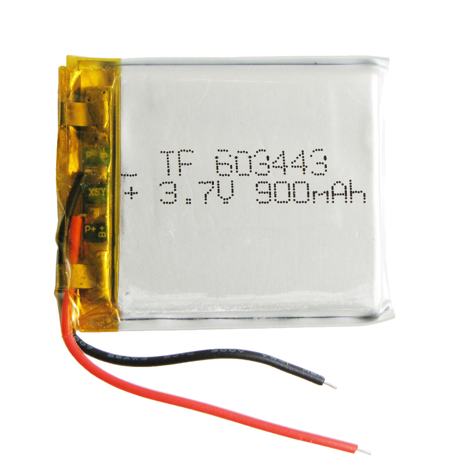 3.7V 900mAh 603443 Lithium Polymer Li-Po Rechargeable Li Ion Battery for MP3 MP4 MP5 Mobile Electronic Part
