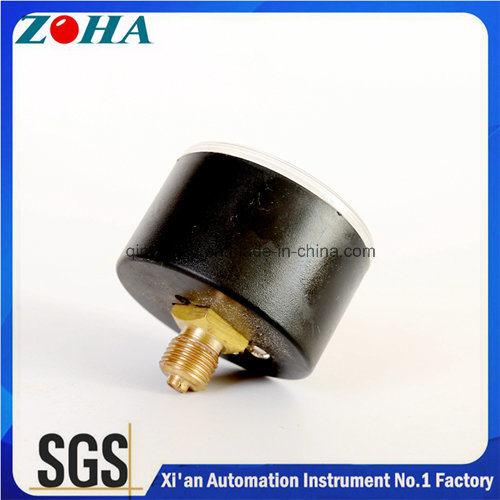 Vacuum Pressure Gauge -1bar~0/ -30inhg~0 Double Scale ABS ASA Case