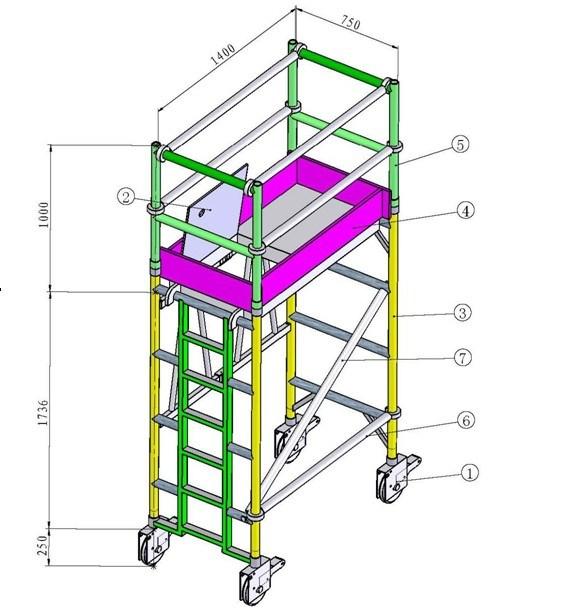 Aluminum Scaffold Product : China aluminium mobile scaffold wpk
