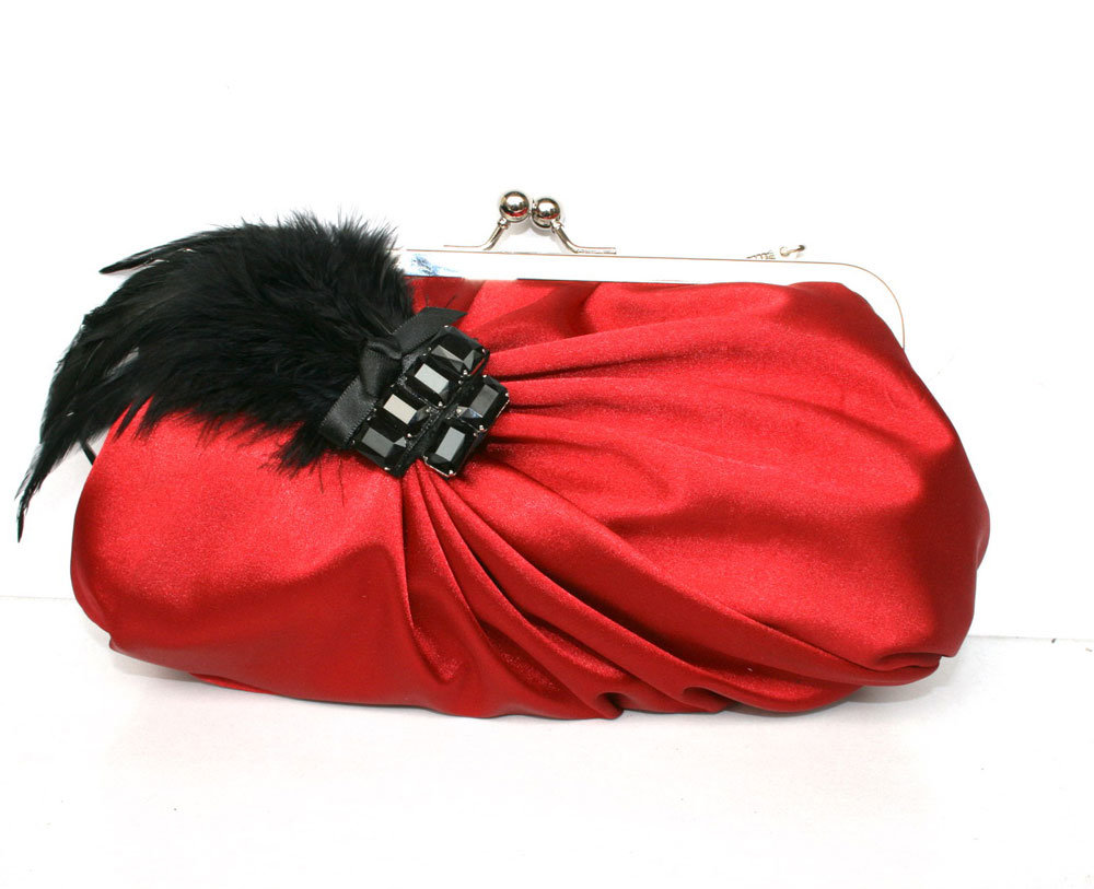 China Red Satin Clutch Bag Evening Bag (KD-10197 ) - China Clutch Bags Evening Bags