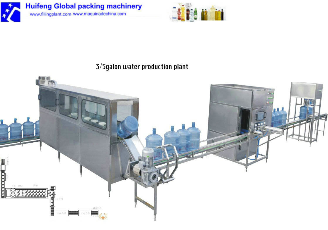 20L Water Filling Machine/5gallon Bottling Machine/Mineral Water Production Line