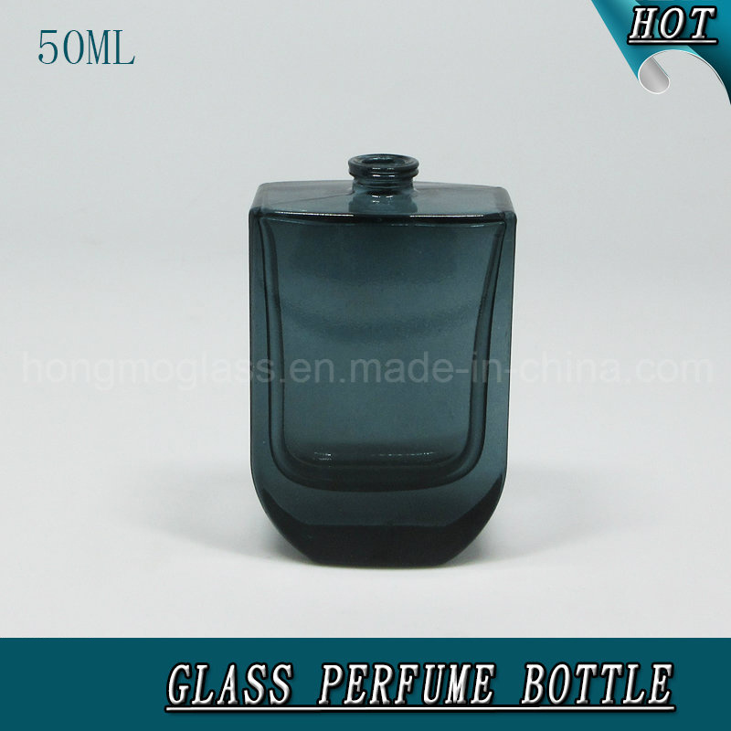 50ml Glass Perfume Spray Bottle with Gold & Black Cap