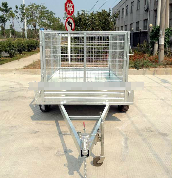 Tandem Axle Box Trailer Optional Different Kinds of Cage (SWT-TT85)
