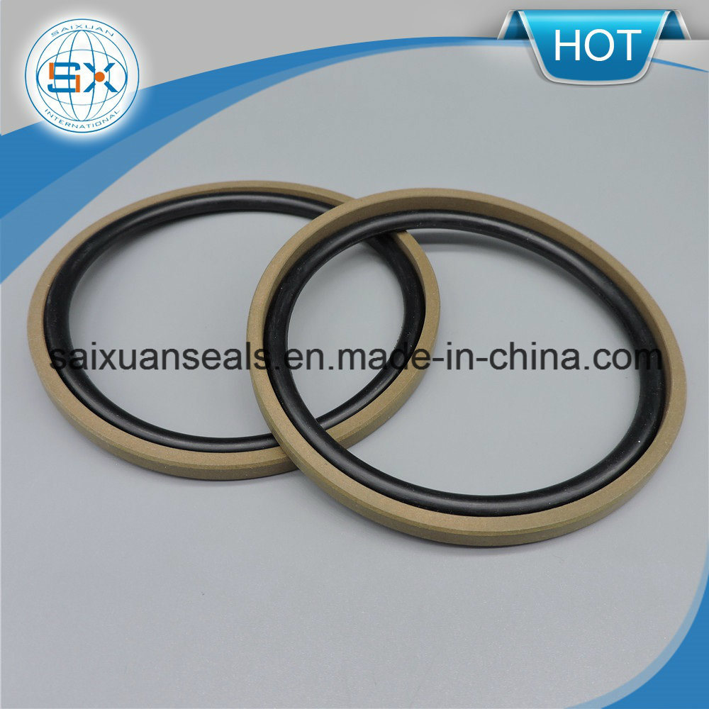 Motorcycle Parts PTFE and Bronze Hydraulic Step Seal for Excavator