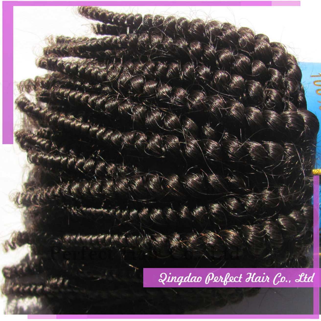 Virgin Brazilian Hair Remy Human Tiger Curly Hair Weft