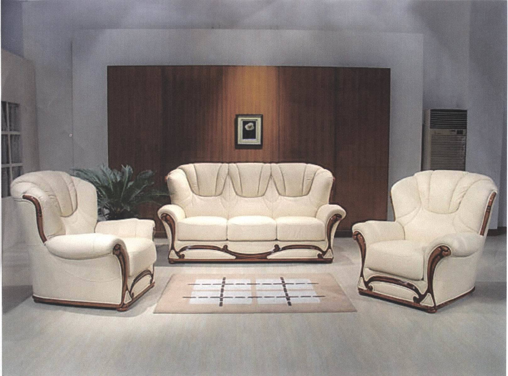 China Italy Leather Sofa ES3007 China Wooden Frame