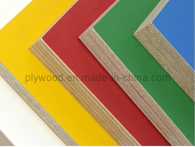 Yellow Red Color Birch Core Film Faced Plywood