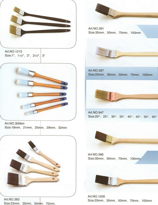 Radiator Brush (paint brush pure natural/filament bristle with long&short handle, paintbrush)