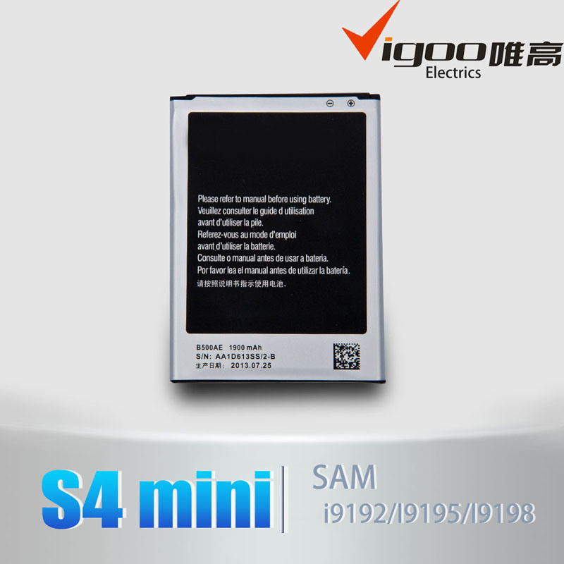 Mobile Phone Battery I9190 S4 Mini Battery B500ae for Samsung