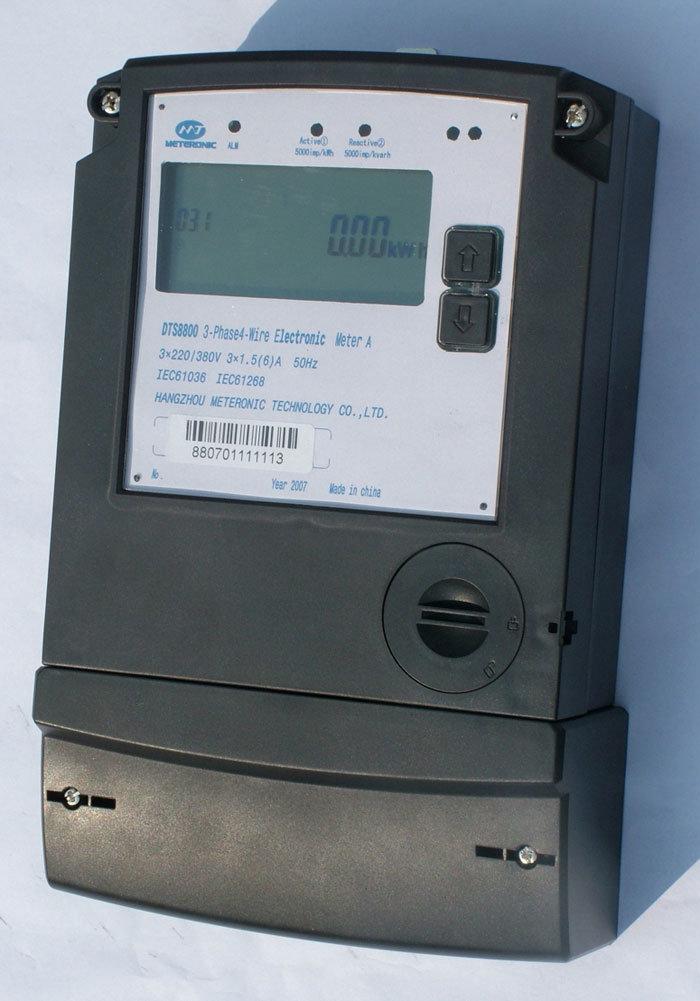 3 Phase Energy Meter : China three phase kwh energy meter