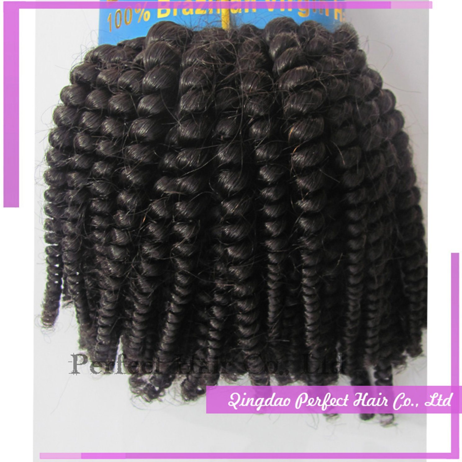Virgin Brazilian Hair Remy Human Tiger Curly Hair Weft