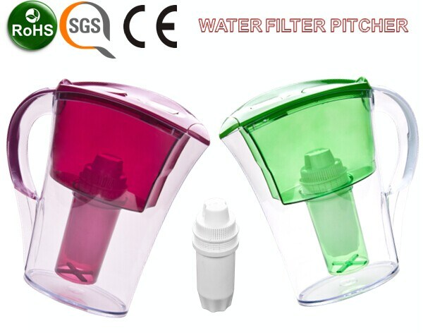 2016 Transparent Water Pitcher Jar with Filter