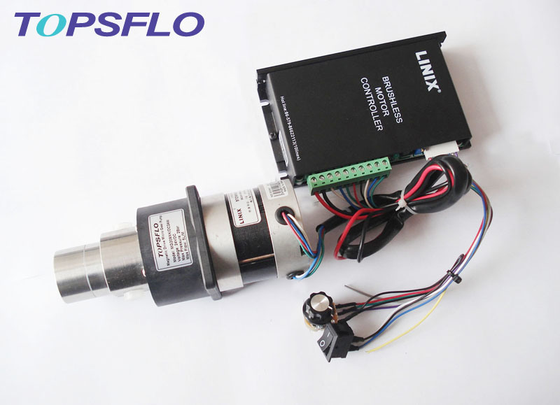DC Mini Magnetic Drive Gear Pump (DC brushless motor, outside controller)