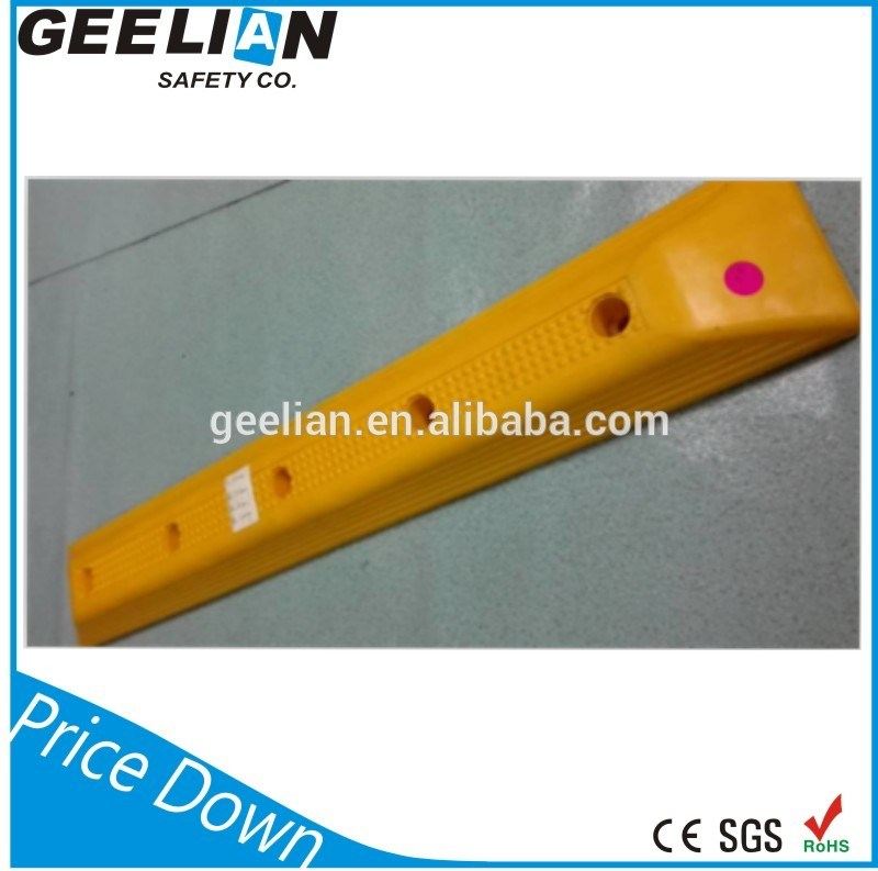 1.65meter Australia Reflective Rubber Parking Wheel Stop