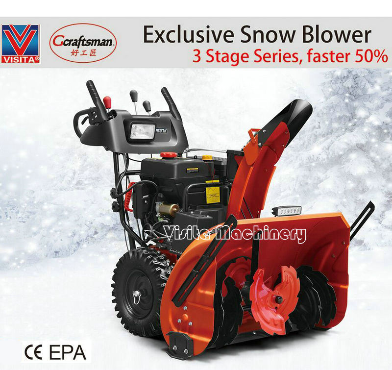"""New Technology 420cc 30"""" Width 3 Stage Snow Thrower"""