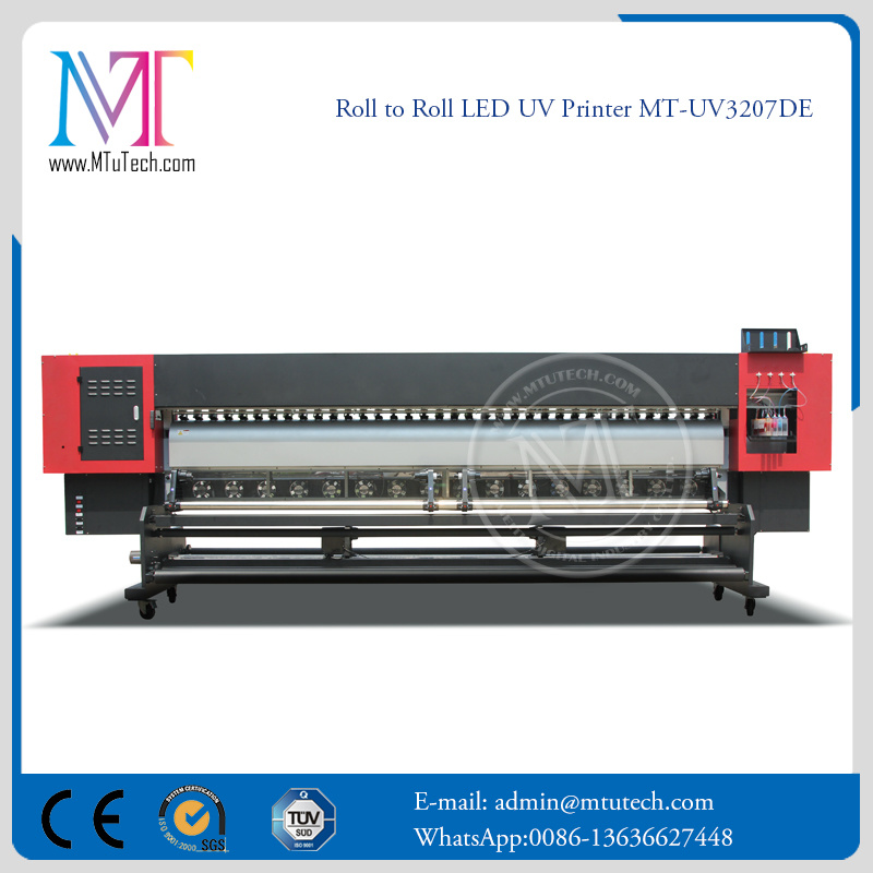 Bottom Price LED UV Inkjet Printer with Epson Dx7 3.2 Width Format with 1440*1440dpi Resolution