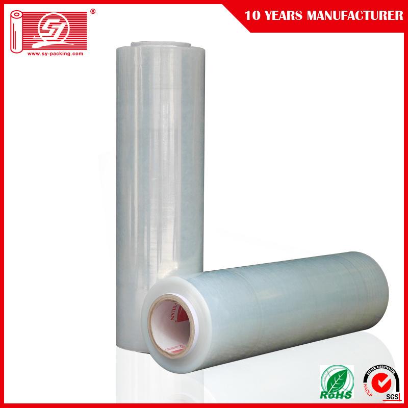 Sy Packing LLDPE 100% Virgin PE Materials Jumbo Roll Machine Hand Stretch Film