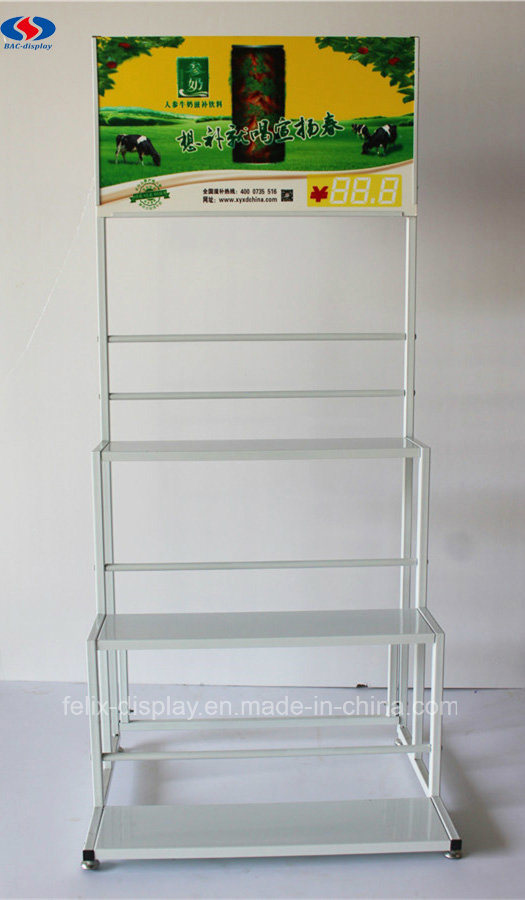 OEM Customized Supermarket Metal Storage Rack for Milk