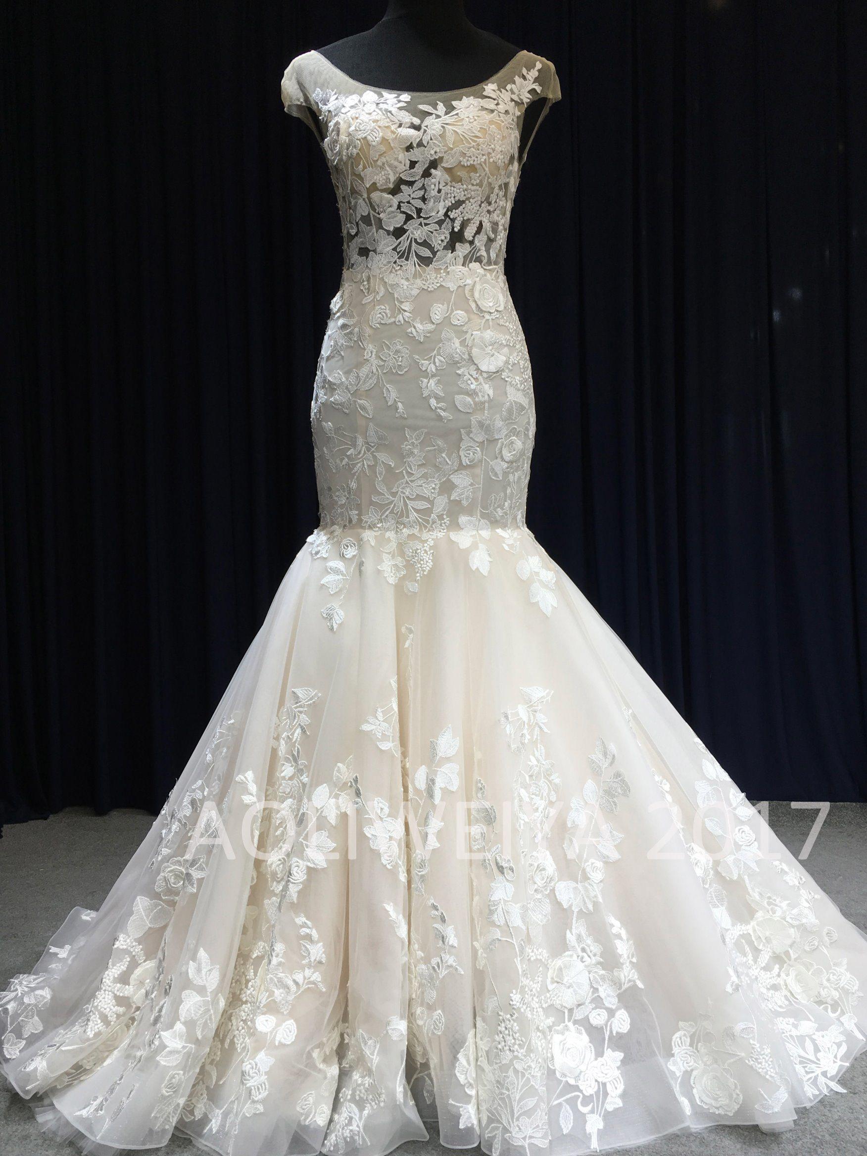 2017 Top Trend Queen Real Sample Wedding Dress
