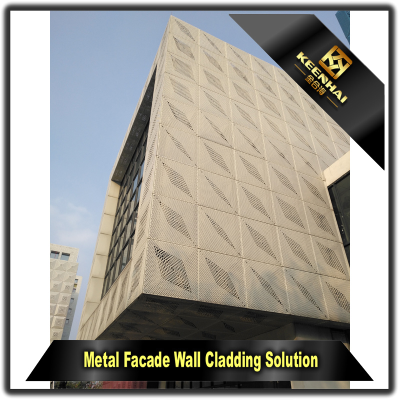 Building Exterior Laser Cut Metal Wall Panels