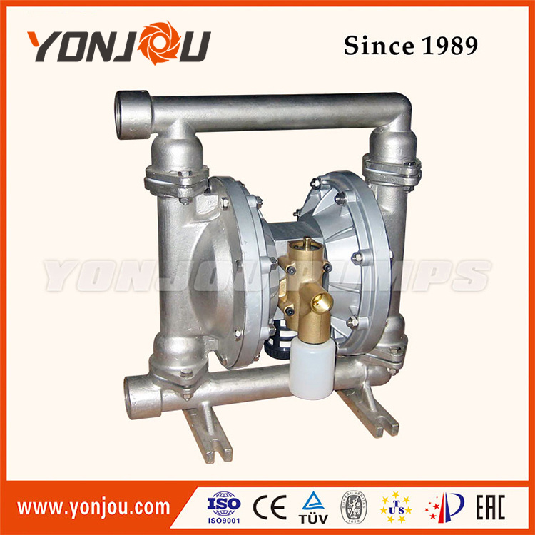 Air Operated Double Diaphragm Pump in Stainless Steel Material (QBY)