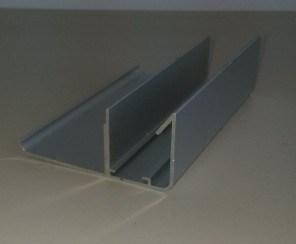 Aluminium Extrusion Wardrobe Door Profile for Bedroom Furniture