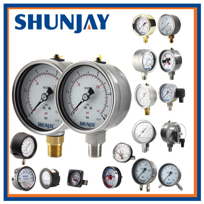 Electrical Contact Pressure Gauge with DIN Design