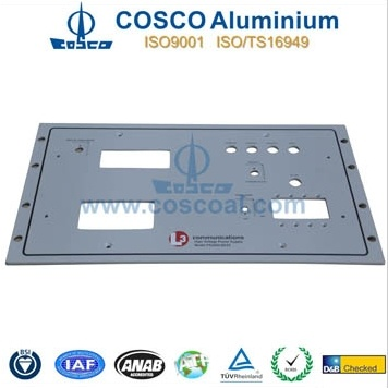 Aluminum Extrusion for Faceplate Panel for Electronics