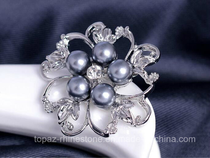 Luxury Fashion Jewelry Brooch Flower Alloy Pearl Brooch (TB-021 flower)