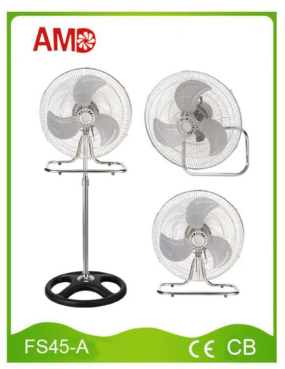 18 Inch 3 in 1 Electric Stand Fan Table Fan Wall Fan (FS45-A)