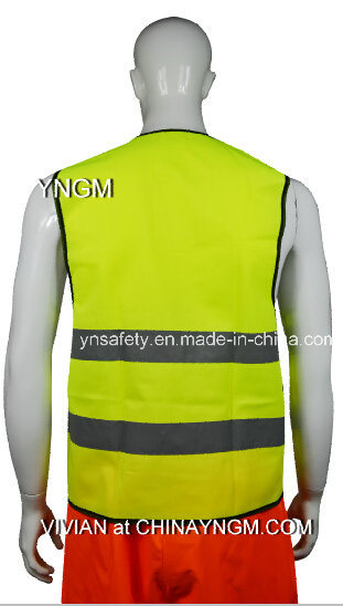 High Visibility Safety Vest with High Luster Reflective Tc Fabrics