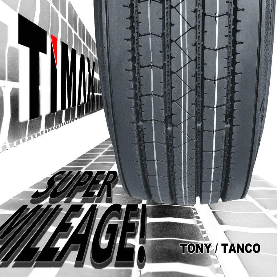 180000 Miles 295/75r22.5 Super Mileage Low PRO / Semi Truck Tire (DOT, Smartway)
