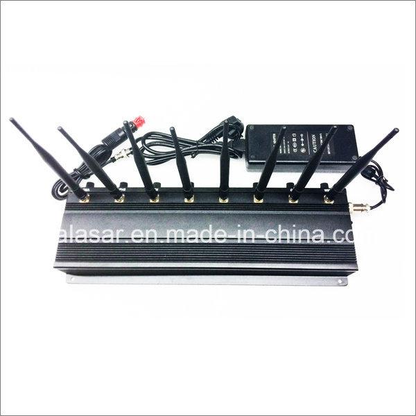 8 Bands Power Adjustable RF Signal Jammer Shielding