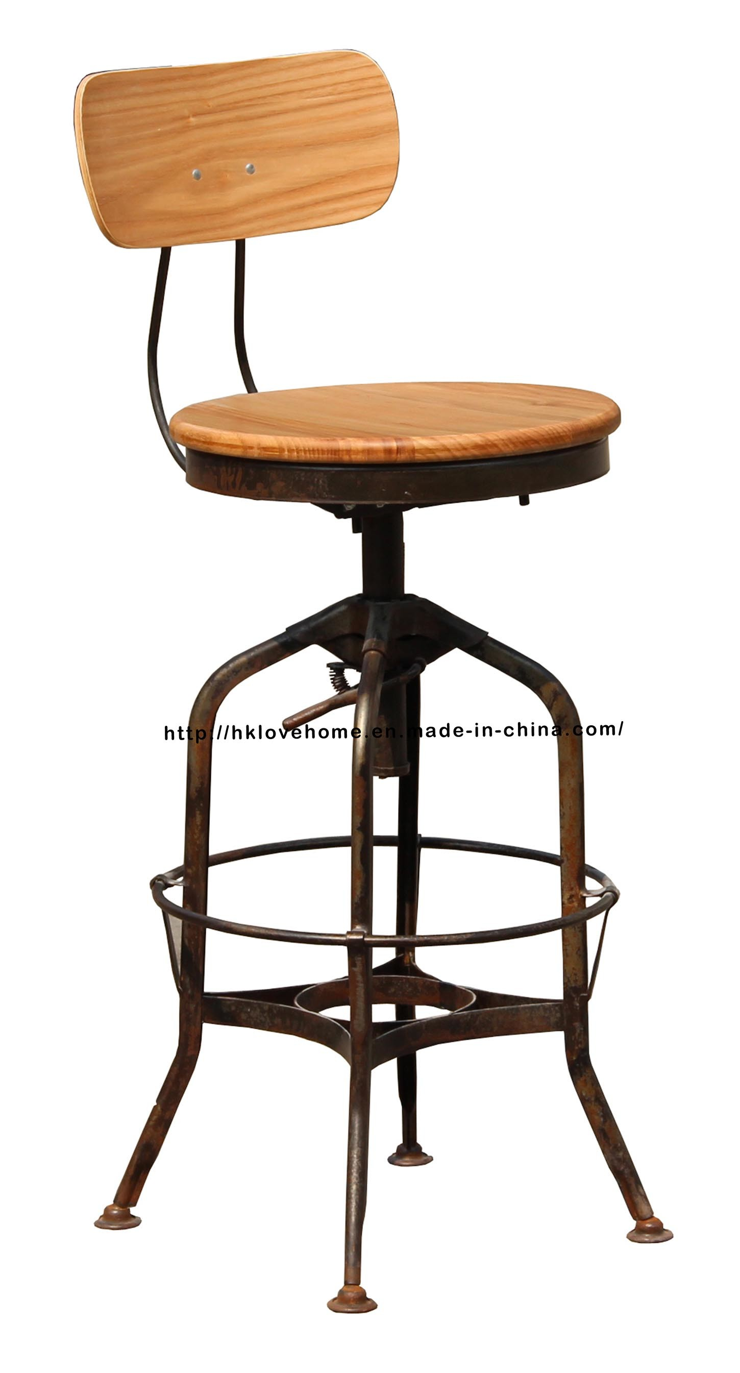 China Industrial Metal Restaurant Dining Swivel Toledo Bar Stools