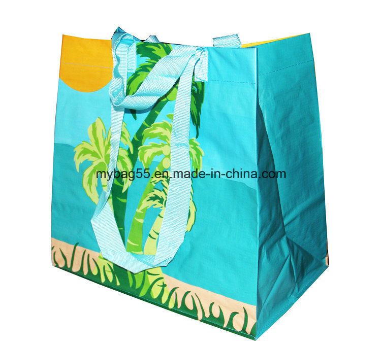 Recycled BOPP Laminated Non Woven Promotional PP Woven Shopping Bag
