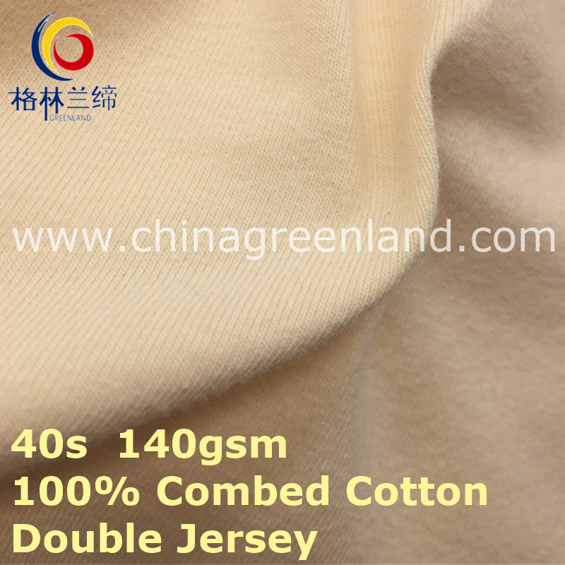 Double Jersey Cotton Knitted Fabric for Polo T-Shirt (GLLML422)