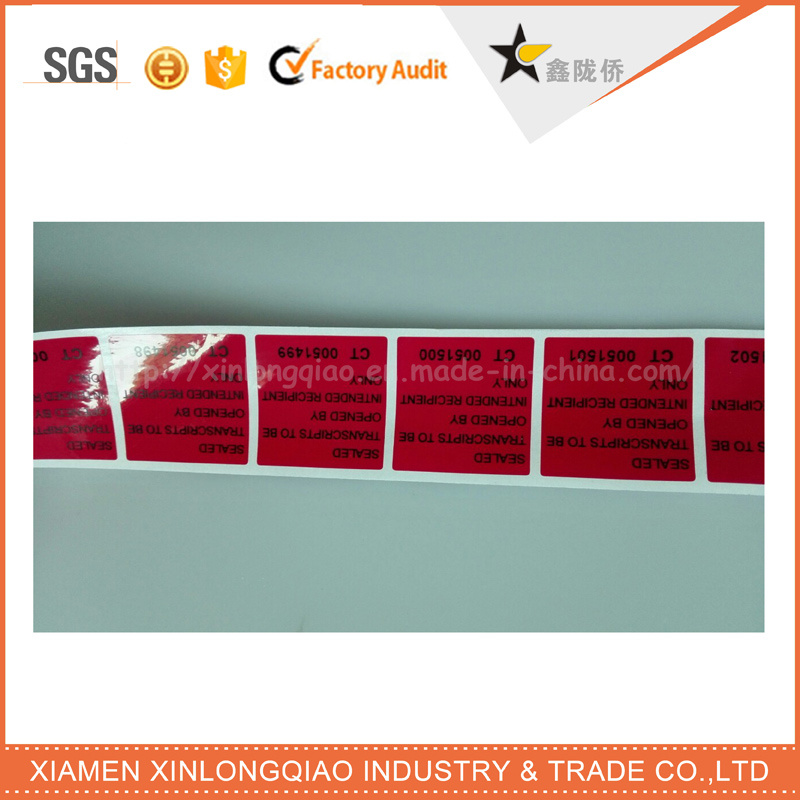 Adhesive Warranty Seal Label Printing Tamper Evident Void Sticker