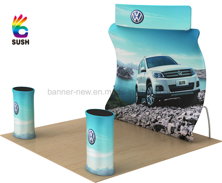 Tension Fabric Portable Exhibition Stand, Display Stand, Trade Show (KM-BSU)