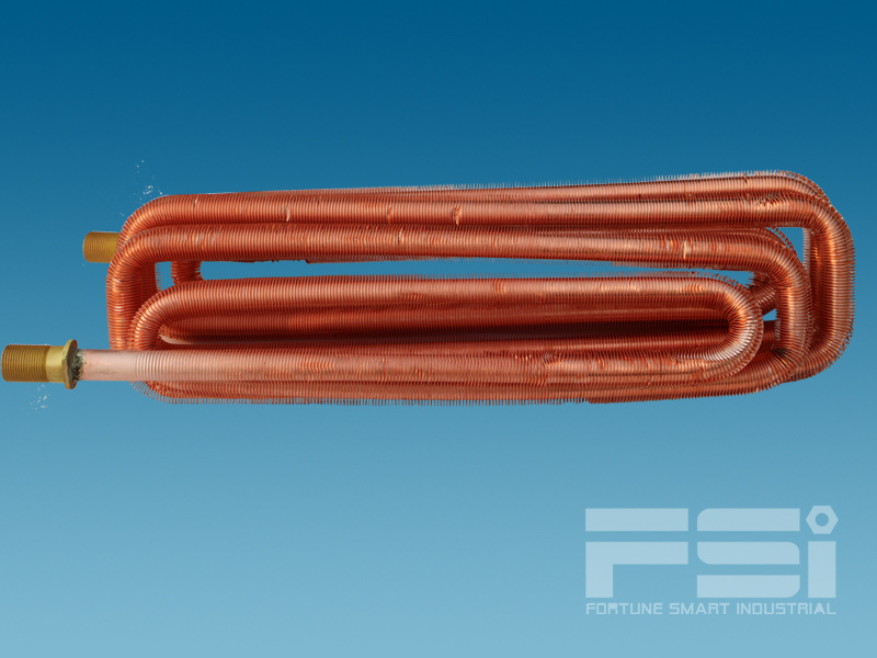 Coiling Copper Finned Tube Heat Exchanger 603