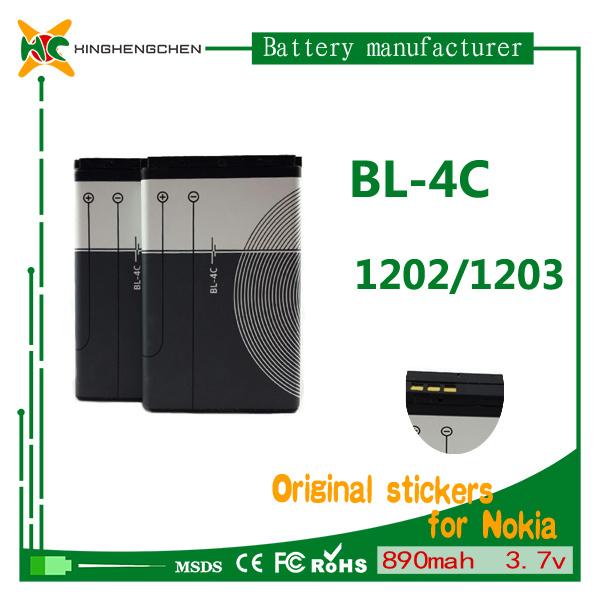 890mAh 3.7V Cellphone Battery Mobile Battery for Nokia Bl-4c 1202 1203 1265
