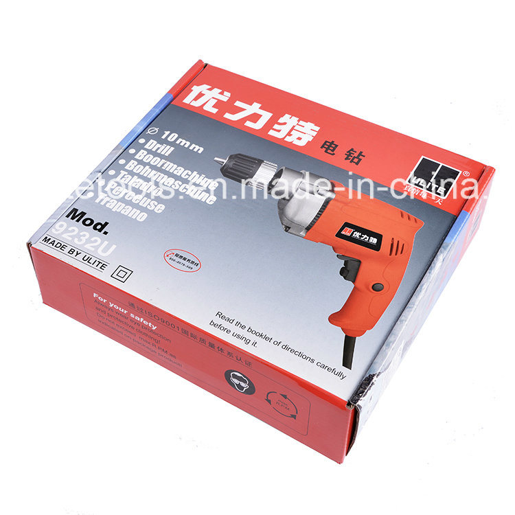 600W High Speed 10mm Industrial Quality Electric Drill 9232u