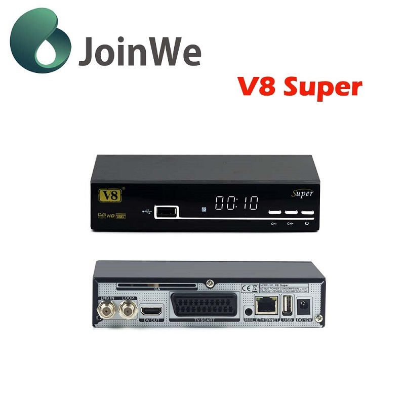V8 Super Support Full Powervu, Dre &Biss Key DVB-S2 Satellite Receiver