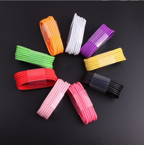 Colorful 8 Pin Lightning Cable for iPhone 6 6s Plus USB Data Charger Power Cable Cord 1m/2m/3m